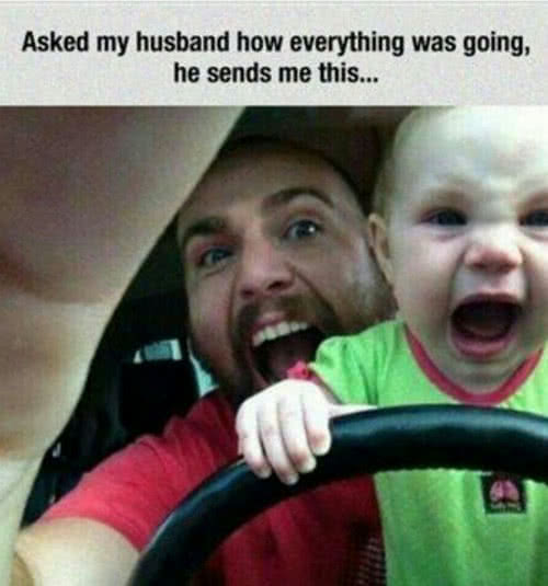 husband and child screaming