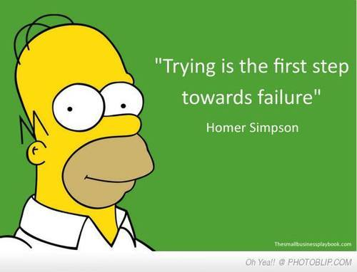 trying and failing homer simpson