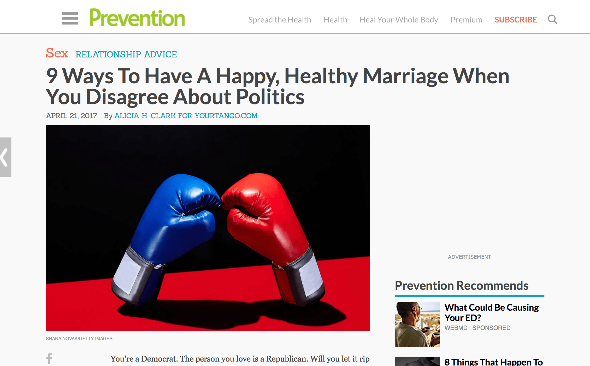 9 Ways To Have A Happy, Healthy Marriage When You Disagree About Politics